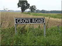 TM1686 : Grove Road sign by Adrian Cable