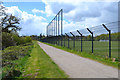 SP3577 : Wide path by the football pitches, Alan Higgs Centre, southeast Coventry by Robin Stott