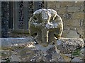 SW4627 : Wheel-head Cross, churchyard wall, Paul by Andrew Curtis