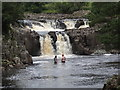 NY9027 : Low Force and the River Tees by Les Hull