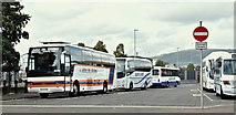 J3374 : Coach park, Durham Street, Belfast (October 2016) by Albert Bridge