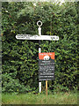 TM1483 : Signpost on Crown Green by Adrian Cable