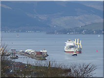NS3075 : Great Harbour and the Firth of Clyde by Thomas Nugent