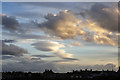 NJ2370 : An interesting sky over Lossiemouth by Walter Baxter