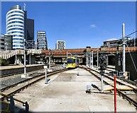 SJ8499 : Tram leaving Victoria by Gerald England