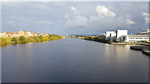 NZ4519 : River Tees from the Infinity Bridge by Clive Nicholson