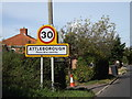 TM0594 : Attleborough Town Name sign by Adrian Cable