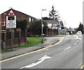 SJ3250 : Warning sign - level crossing, Watery Road, Wrexham by Jaggery