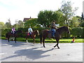 SP0057 : Horse riders at junction of Stonepit Lane and Withybed Lane by Jeff Gogarty