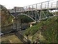 NZ3567 : Footbridge over Borough Road, North Shields by Graham Robson