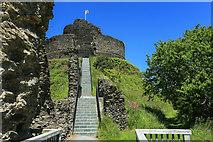 SX3384 : Steep climb up to Launceston castle keep by Mike Dodman