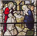 TF0043 : Detail of east window, St Mary's church, Wilsford by J.Hannan-Briggs