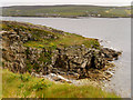 HU4840 : Cliffs Overlooking Bressay Sound by David Dixon