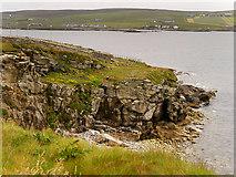HU4840 : Cliffs Overlooking Bressay Sound by David Dixon