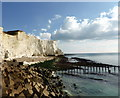 TV4898 : Cliffs at Seaford Head by PAUL FARMER