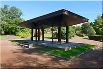 NS2982 : Hermitage Park: the shelter by Lairich Rig