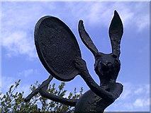 TQ2882 : Frieze Sculpture Park 2016 – human-like hare by Peter S