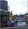 "TQ2883 : ""Lost Souls"" mural, Camden Town by Julian Osley"