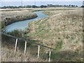 TQ9564 : Drainage ditch at the head of Conyer Creek by Marathon
