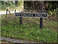 TM1591 : Pottergate Street sign by Adrian Cable