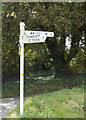 TM1691 : Signpost on Church Road by Adrian Cable