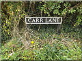 TM1691 : Carr Lane sign by Adrian Cable