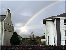 SH5738 : Rainbow over Porthmadog by John Lucas