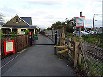 SH5639 : Entrance to Welsh Highland Heritage Railway by John Lucas