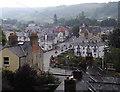 SJ2142 : Llangollen town centre in Denbighshire by Roger  Kidd