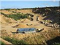 NJ1670 : Clashach Quarry by Anne Burgess