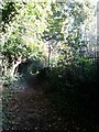 SZ1094 : Strouden: footpath K05 alongside the crematorium by Chris Downer