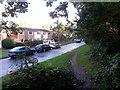 SZ1094 : Strouden: footpath K05 joins Mallard Close by Chris Downer