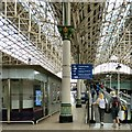 SJ8497 : Travelator at Manchester Piccadilly by Gerald England