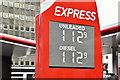 J3373 : Fuel prices sign, Belfast (17 October 2016) by Albert Bridge