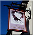SJ4913 : The Telegraph pub name sign, Castlefields, Shrewsbury by Jaggery