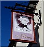 SJ4913 : The Telegraph pub name sign, Castlefields, Shrewsbury by Jaggery