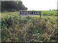 TM1791 : Market Lane sign by Adrian Cable