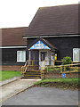 TM1791 : Wacton Village Hall entrance by Adrian Cable
