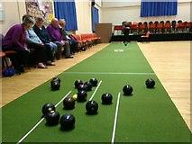 H4472 : Indoor bowls, Omagh Methodist Church Hall by Kenneth  Allen