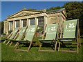 SO8844 : Deckchairs at Croome Park by Philip Halling