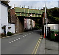 SN6296 : South side of a railway bridge, Penhelig, Aberdovey by Jaggery