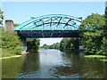 SJ6471 : Sculler passing Hartford Bridge, River Weaver by Christine Johnstone