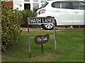 TM1791 : Wash Lane sign by Adrian Cable