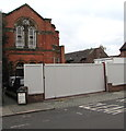 SJ6552 : Fenced-off former Methodist Church, Nantwich by Jaggery