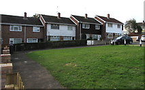 ST2894 : Houses on the south side of Henllys Way, St Dials, Cwmbran by Jaggery