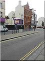 TR3141 : New advertisement board, King Street by John Baker