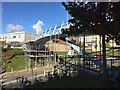 SJ8544 : Royal Stoke University Hospital: refurbishment of footbridge by Jonathan Hutchins