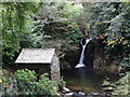 NY3606 : Lower Rydal Beck Falls and The Grot by Les Hull