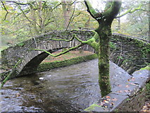 NY3704 : Miller Bridge over the River Rathay by Les Hull