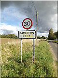 TM1093 : Carleton Rode Village Name sign on Mill Road by Adrian Cable